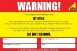 Pack of At Risk Labels